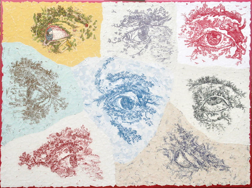 """The Pupils"" is imagined from nine wallpapers."