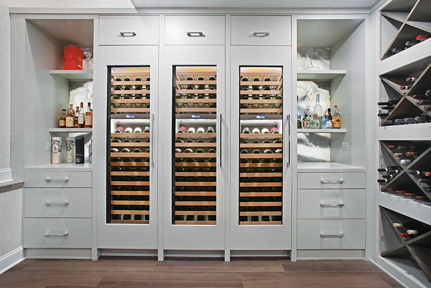 Owings Brothers Contracting's Wine Room Extraordinaire won for Specialty and/or Details. © Vince Lupo