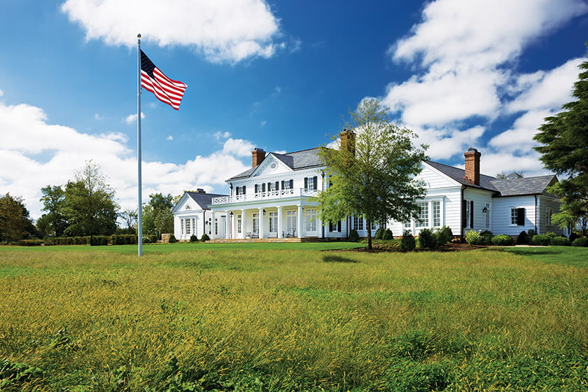Winchester collaborated with Jones & Boer Architects, Arentz Landscape Architects and Lanier Oxford Interiors on an Eastern Shore estate.