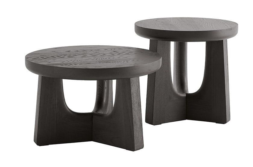 The NARA collection of stools and occasional tables by Jean-Marie Massaud for Poliform.