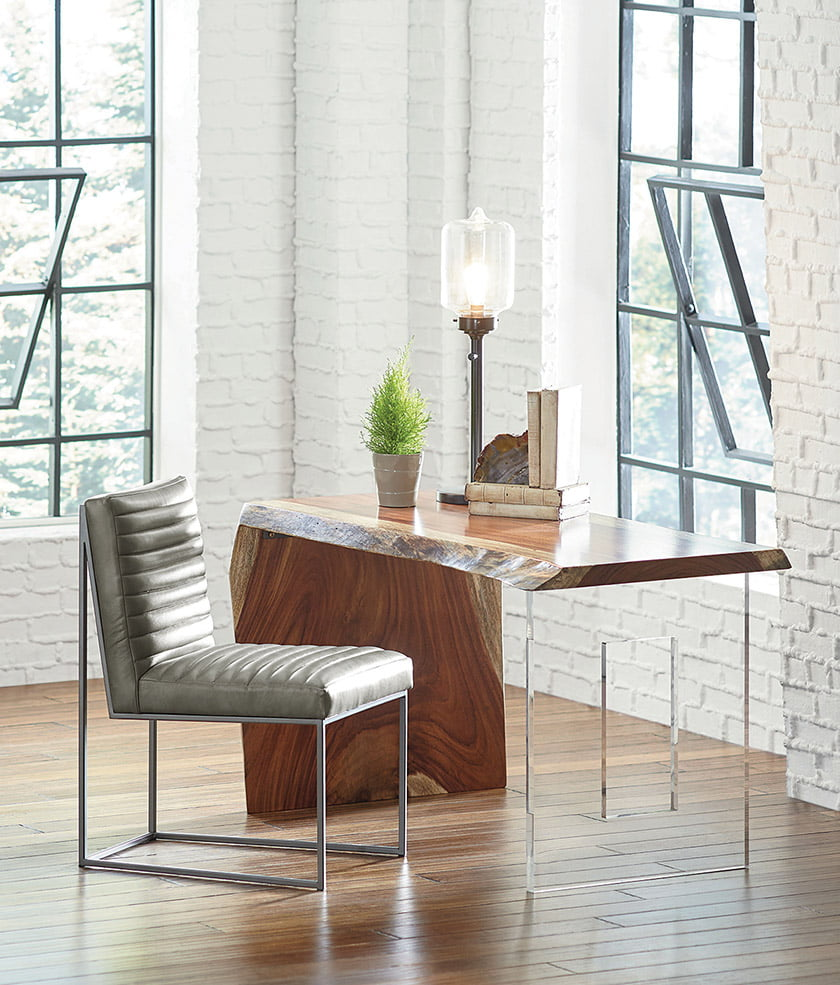 The Live Edge Waterfall Desk by Fairfield Chair, at Belfort Furniture.
