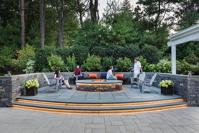 A gas fire feature designed by Zen Associates, Inc. © Nat Rea