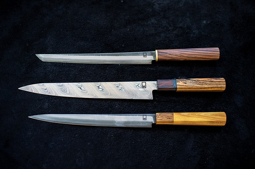 Knives crafted by Monolith Knives.