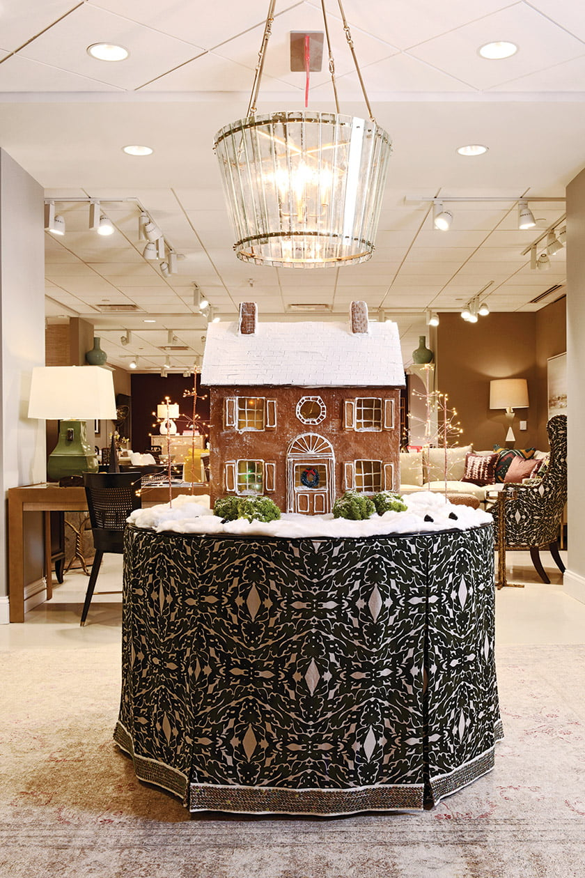 Iantha Carley went architectural with an over-the-top gingerbread house in Century.