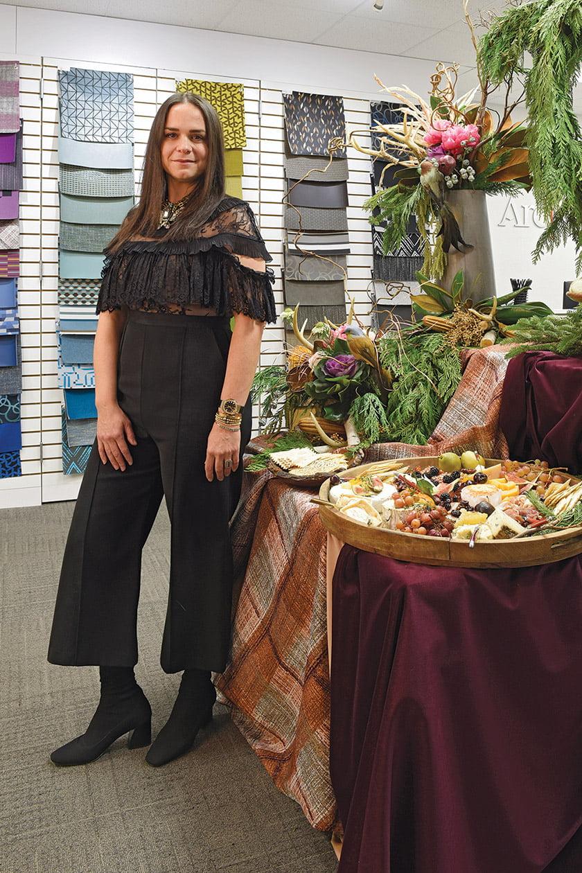 Katalin Farnady designed a bountiful, nature-inspired spread in Arc-Com.