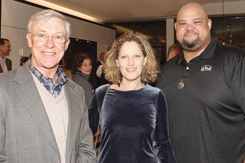 Jay Graham, editor in chief Sharon Jaffe Dan, Scotty Marshall.