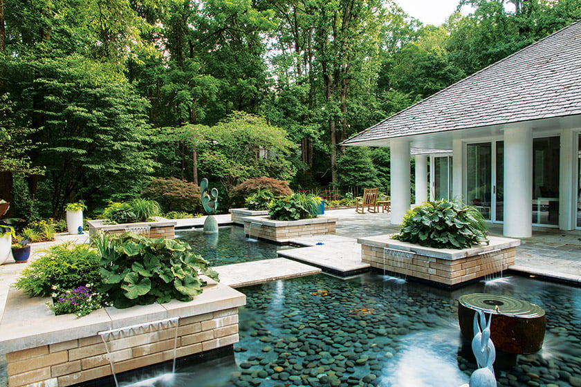 Running Brooke Contemporary Water Feature by Land & Water Design; photo: George E. Brown.