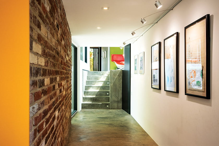 A gallery connects the old and new parts of the house.