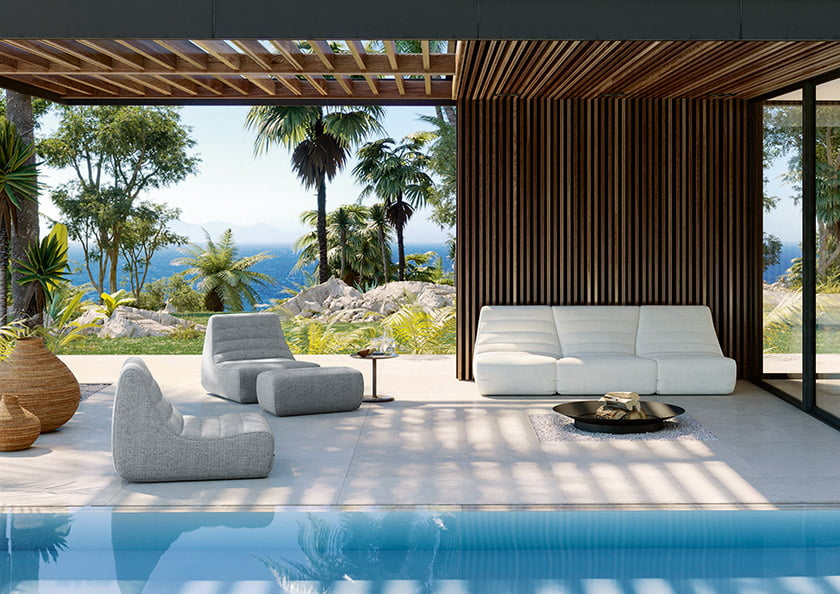 Lignet Roset's Saparella indoor-outdoor collection.