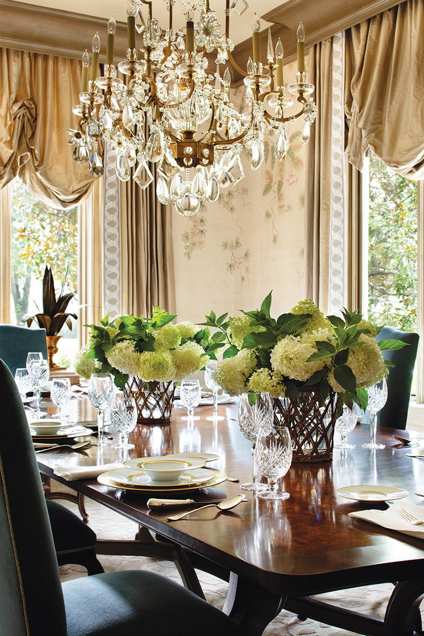 Dining room detail.