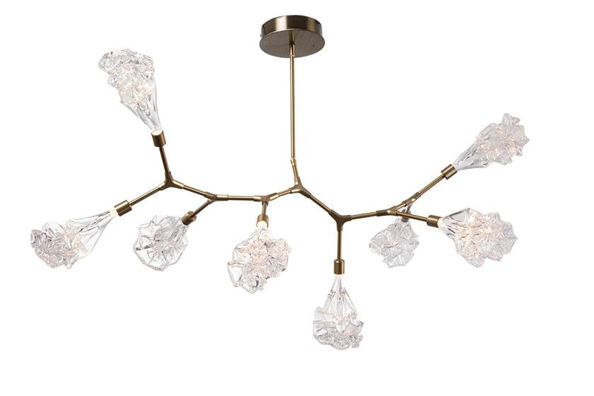 Hammerton Studio's Blossom Modern Branch linear suspension light.