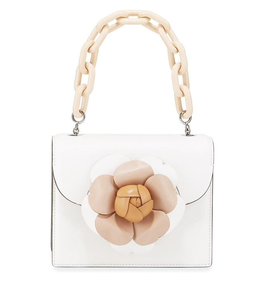 Oscar de la Renta's Tro Mini Napa Leather Crossbody Bag.