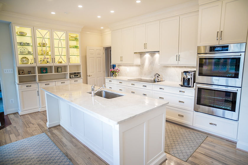 DBG remodeled a Vienna home, outfitting the kitchen with a furniture-like island.