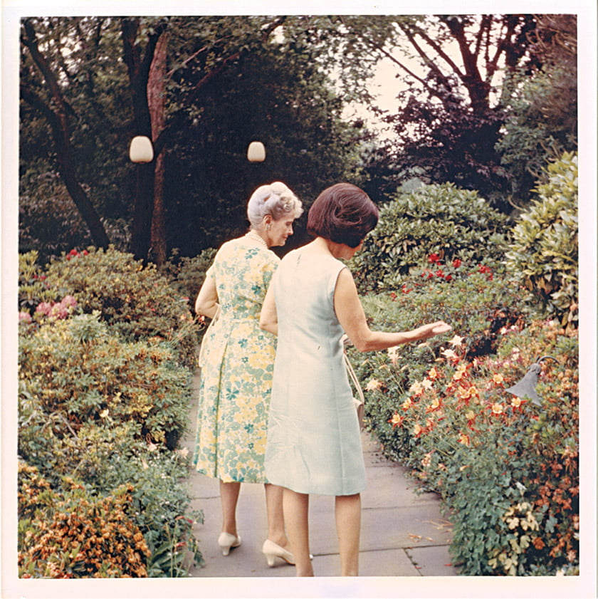 From the book: A photo of Ladybird Johnson and Marjorie Merriweather Post at Hillwood.