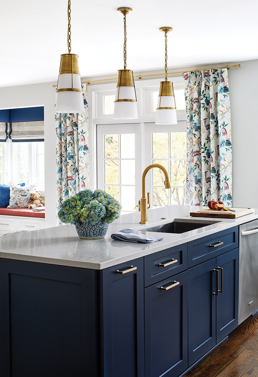 Hickok designed the kitchen with cabinetry from Stuart Kitchens.