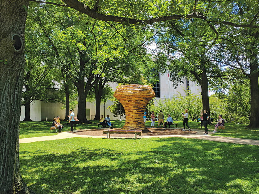 """Mushroom,"" which rises 12 feet tall, is part of the Smithsonian's ""Habitat"" exhibit, photographed last year."