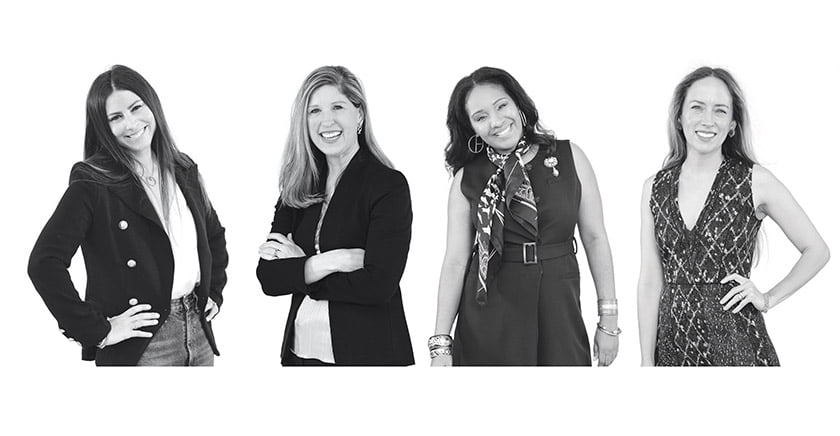 Jodi Berger, Shannon Hickok, Kiyonda Powell and Melissa Colgan. Photo by Michael Ventura.