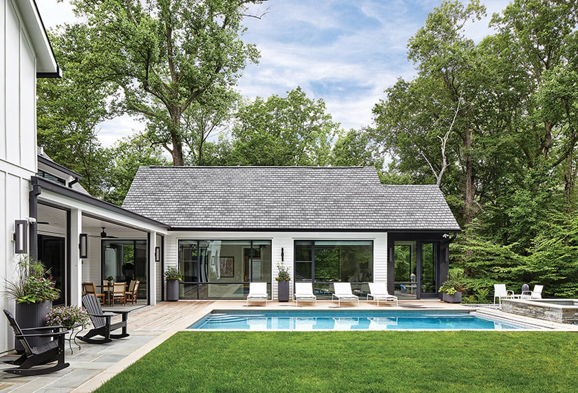 An award for Custom Contemporary Home went to Sandy Spring Builders. © Stacy Zarin Goldberg