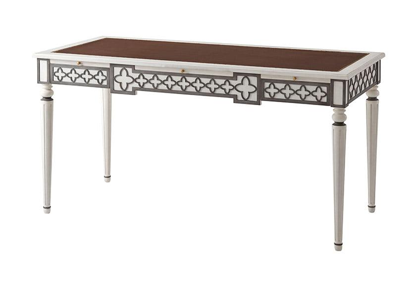 Designer Alexa Hampton's Mirabella Writing Table, available at Sheffield Furniture & Interiors locations.