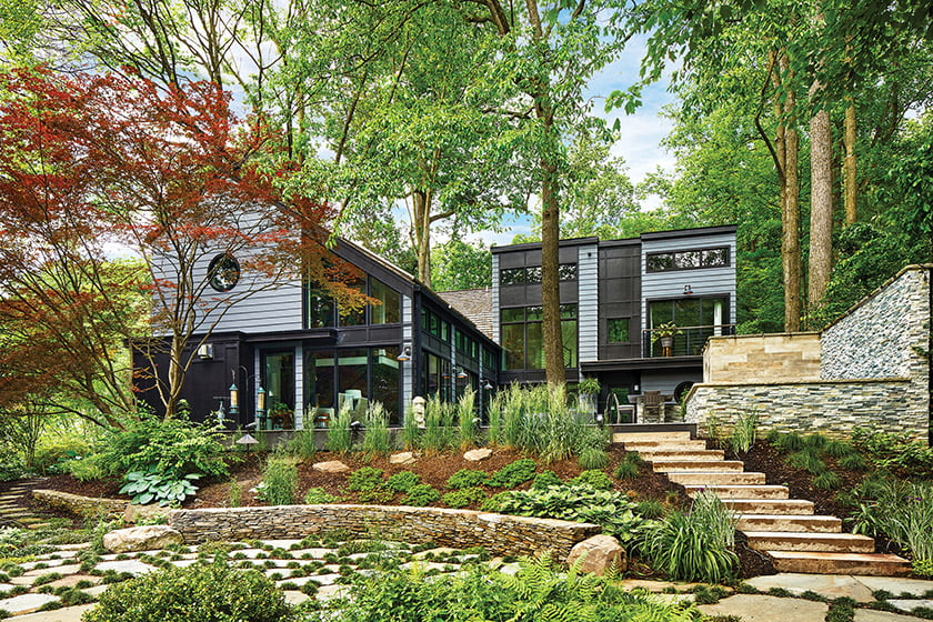 Charles Owen of Fine Landscapes added hardscaping and plantings to enhance outdoor living. Photo: Stacy Zarin Goldberg