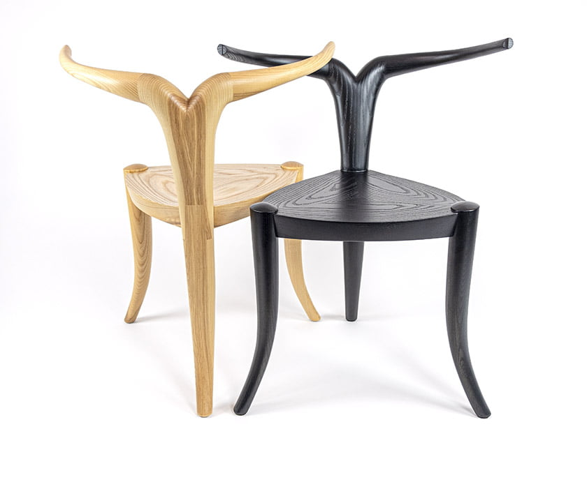 The Nyala Chair was inspired by the graceful lines of the Nyala antelope found in Ethiopia, where Tariku grew up.