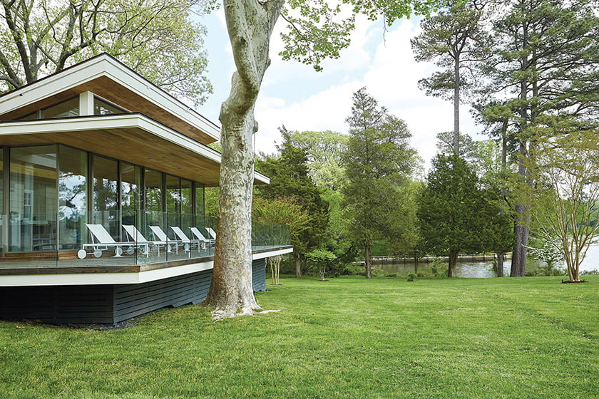Jim Rill's plan replaced the existing screened porch with a glass-enclosed space nearly double in size.