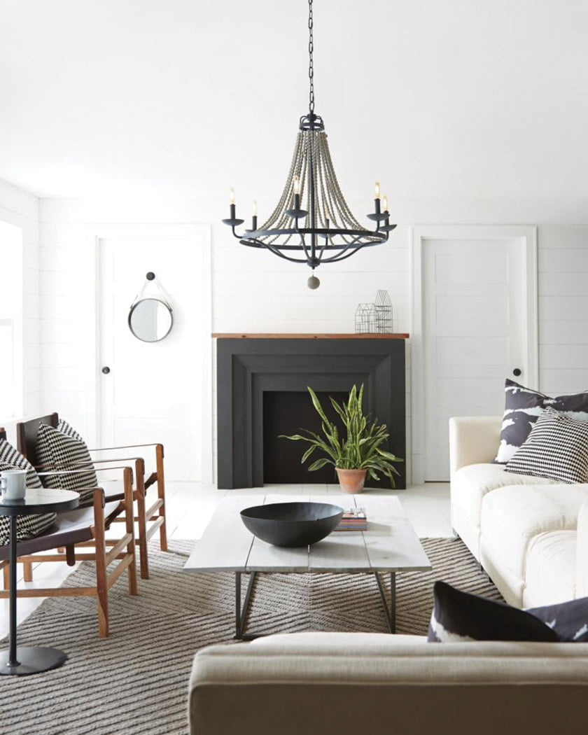 The Nori chandelier by Feiss Lighting.