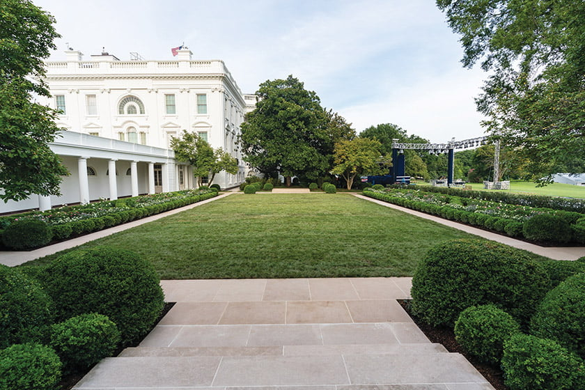 A photo of the project reveals the new limestone border. Photo: Michael Prokopchak