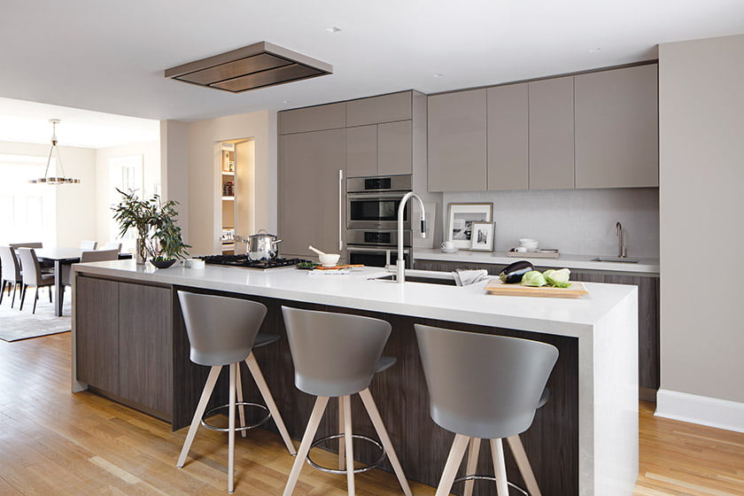 Snaidero DC Metro transformed a problematic kitchen in Northwest DC with an open plan and a serene, modern aesthetic.