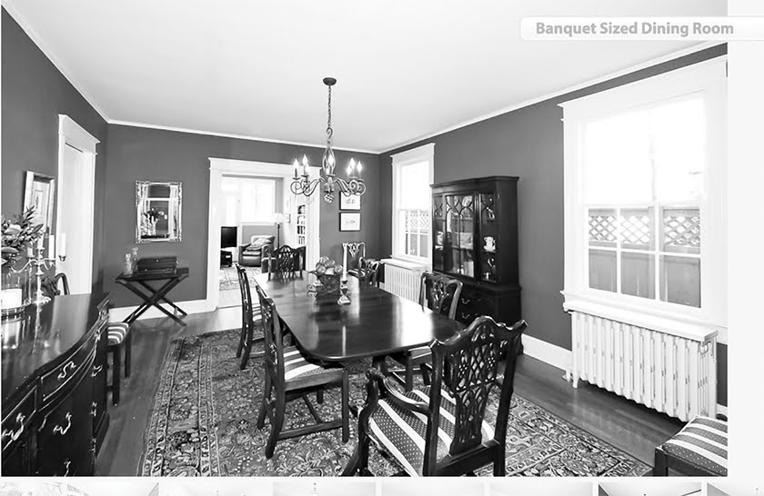 Before: The dining room was dark and drab, with deep-red walls and not much natural light.