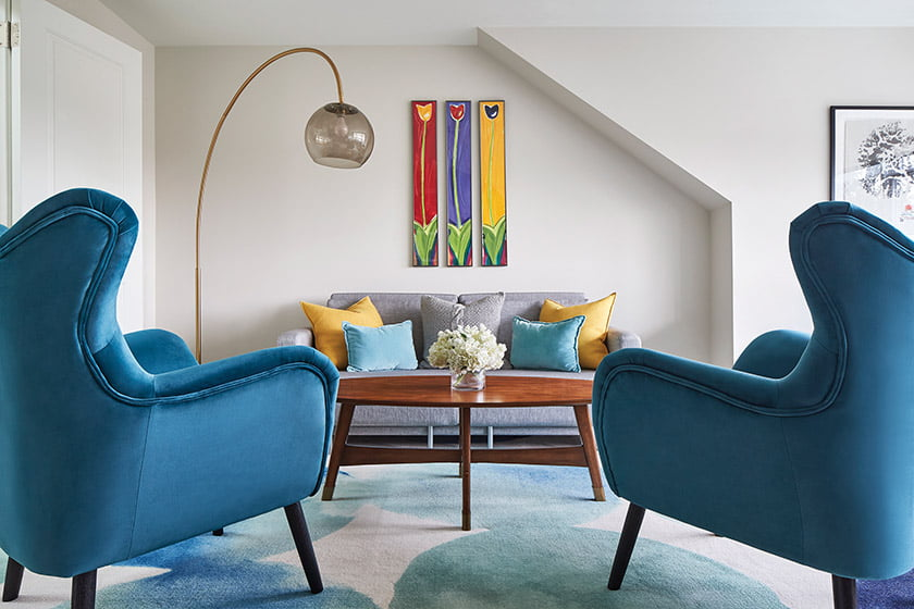 In a Cleveland Park home, Tracy Morris designed a kids hangout with art by Matthew Johnson.