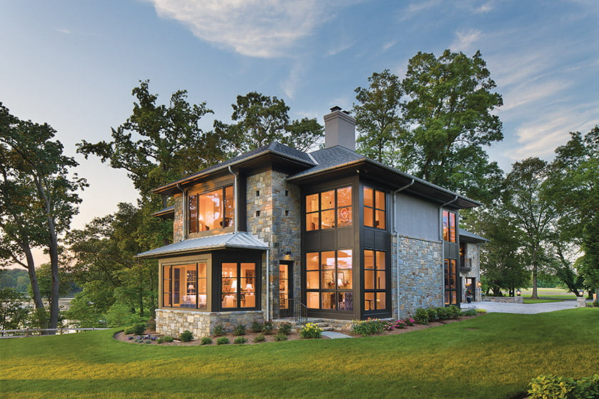 A home designed by Vincent Greene Architects and built by Lynbrook of Annapolis, Inc.