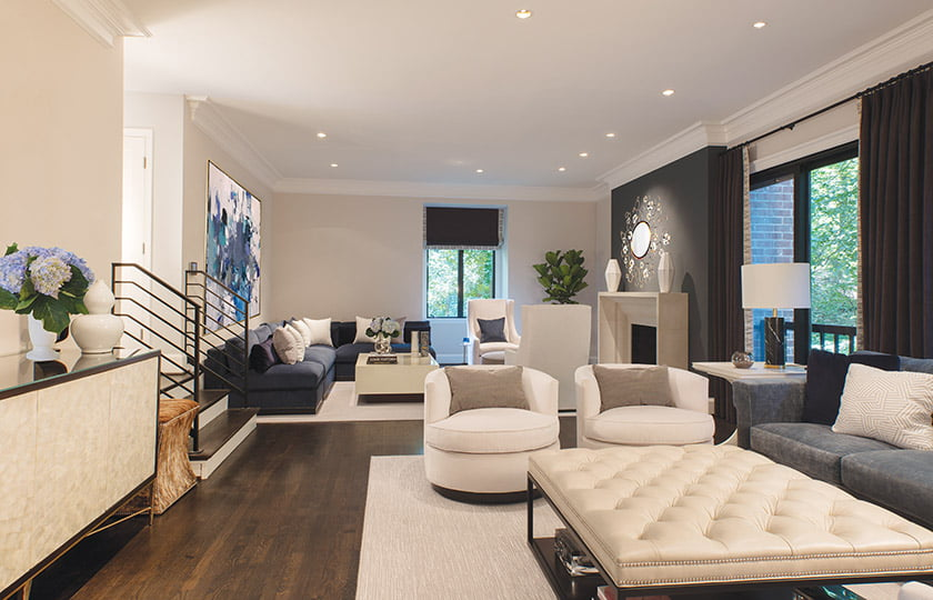 Living room by Bonnie Ammon. Photo: Geoffrey Hodgdon