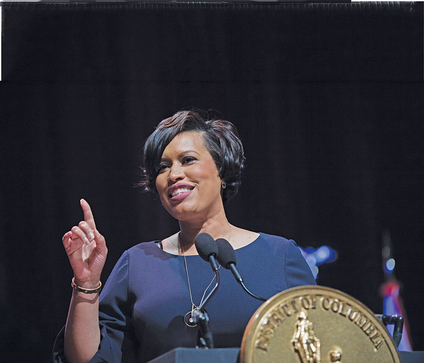 Bowser presents her 2019 State of the District address. Photo: Khalid Naji-Allah