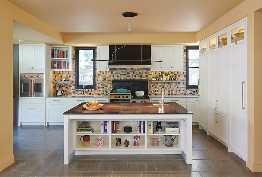 A cramped, outdated kitchen was replaced with a bright, open hub for cooking and entertaining.