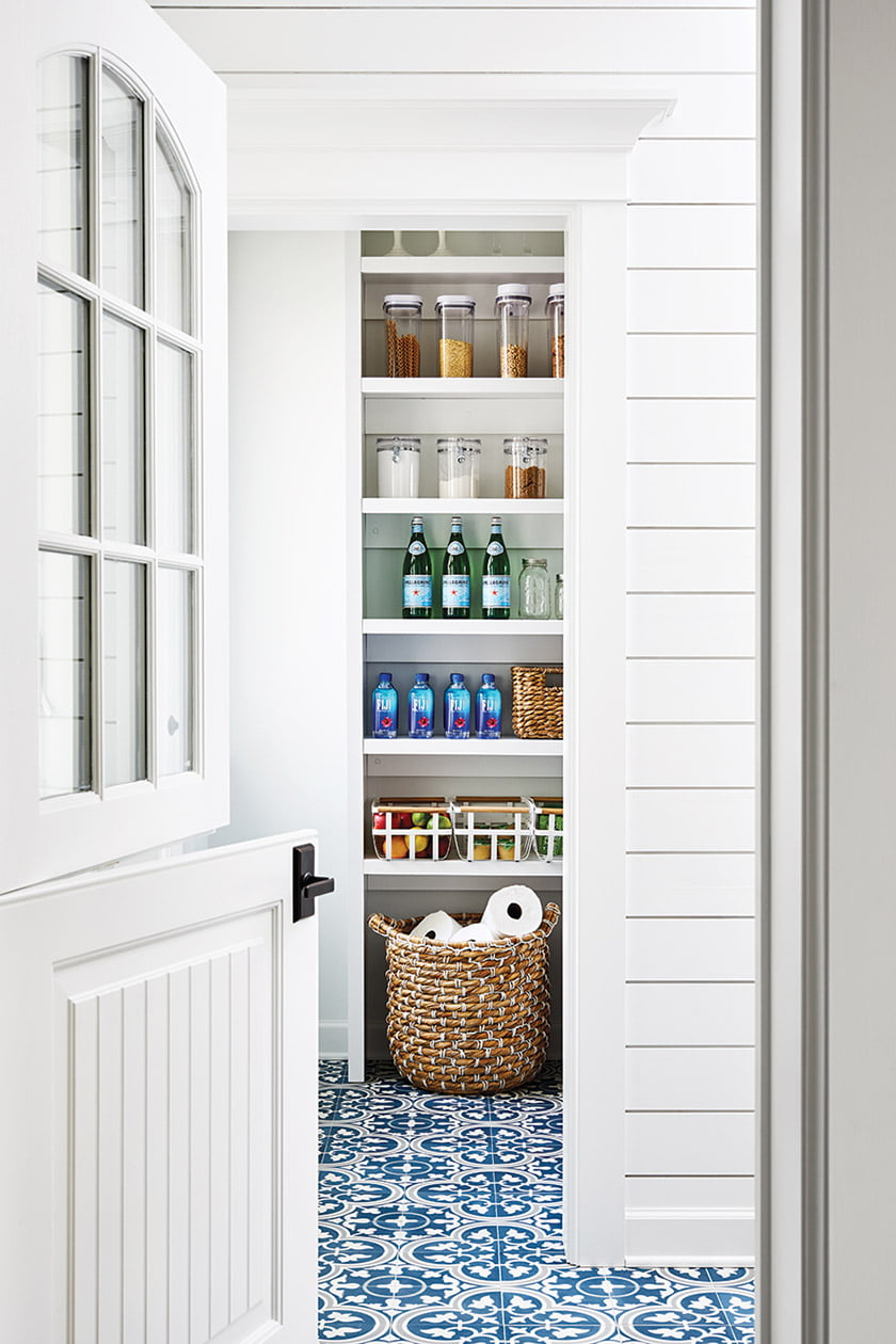 The renovation also converted a sunroom off the kitchen into a much-needed pantry and mudroom.