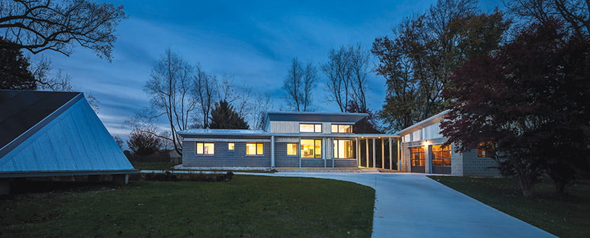 AIA Maryland Residential Honor Award for Old Hopkins Road House: Miche Booz Architect. © Jeff Wolfram