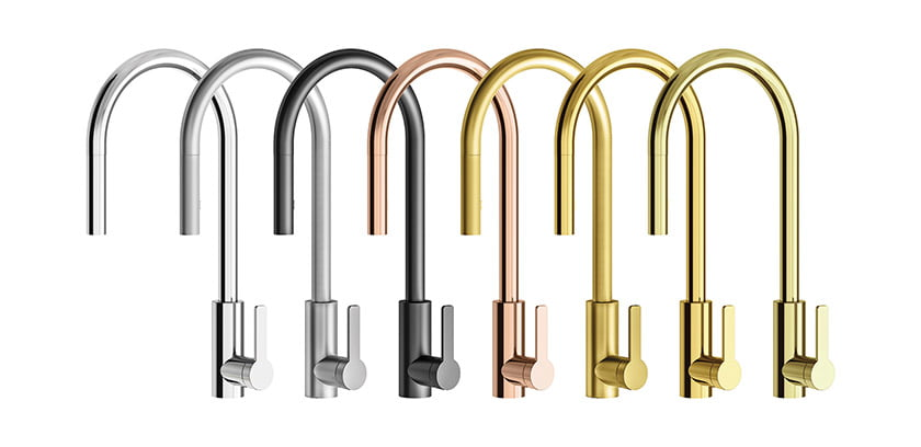 The Franz Viegener Kitchen Collection's pro-style faucet.