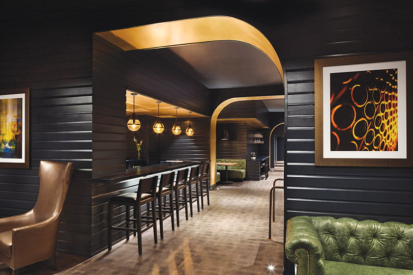 JC Schaub of 5th Edition Design outfitted the interior at WineLAIR in DC's West End. © Jennifer Hughes