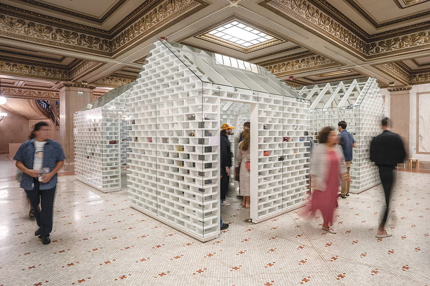 The Gun Violence Memorial Project debuted in 2019 with an installation at the Chicago Architecture Biennial. © Mass Design Group