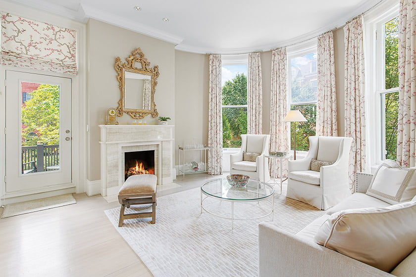 The 1905 mansion has been updated but retains classic elements.