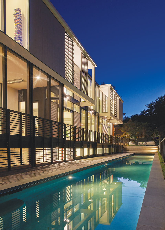 AIA Maryland Residential Merit Award for House, Pool, Garden: McInturff Architects. © Anice Hoachlander