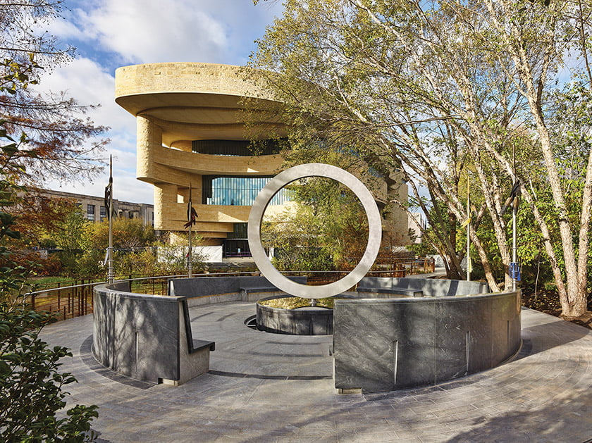 Harvey Pratt designed Native American Veterans Memorial