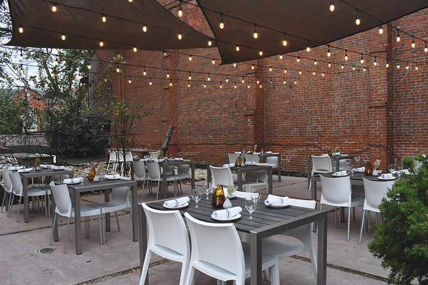 Thacher & Rye outdoor dining