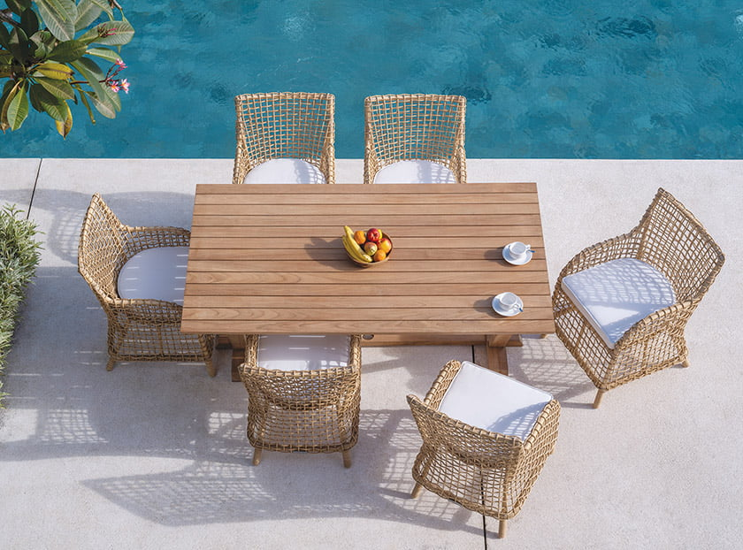 Kingsley Bate's Charlotte collection offers a hardy spin on classic garden seating.