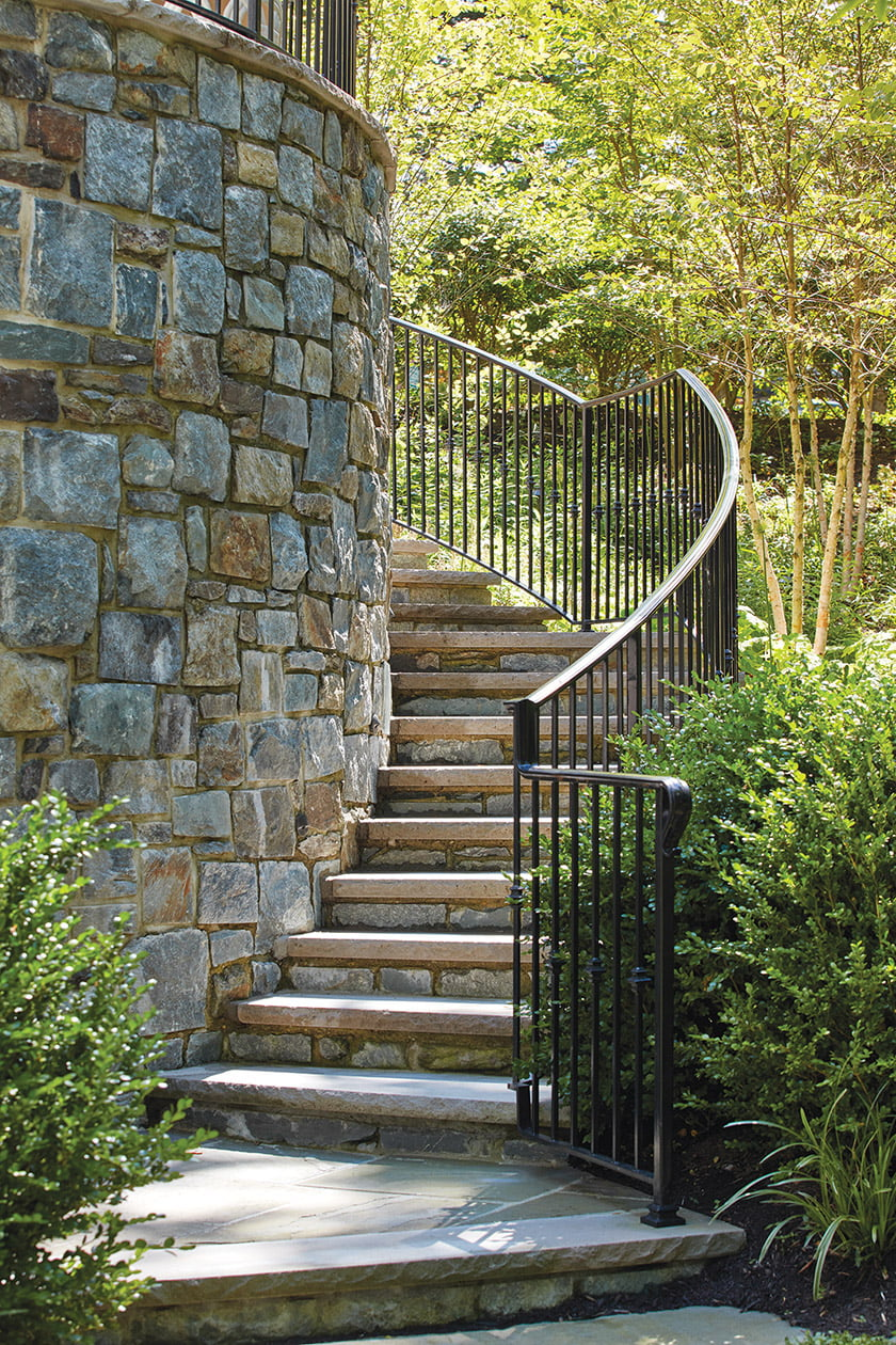 A new circular staircase enhances garden access. © David Burroughs