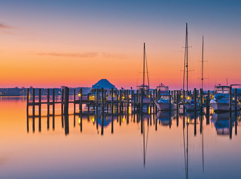 Kent Island Yacht Club at Sunrise
