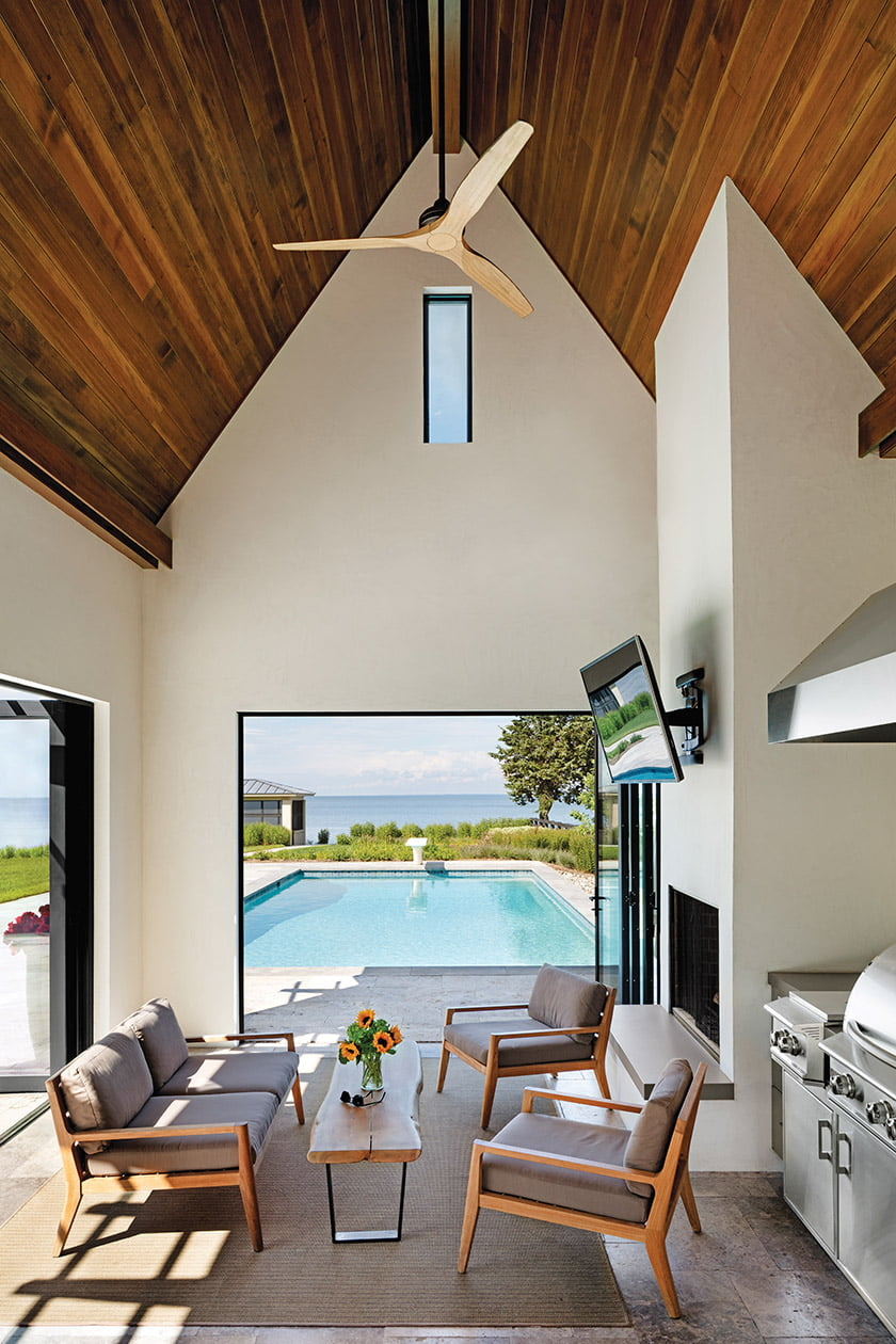 """A pool house in Annapolis embraces Tidewater Modern"""" style."""
